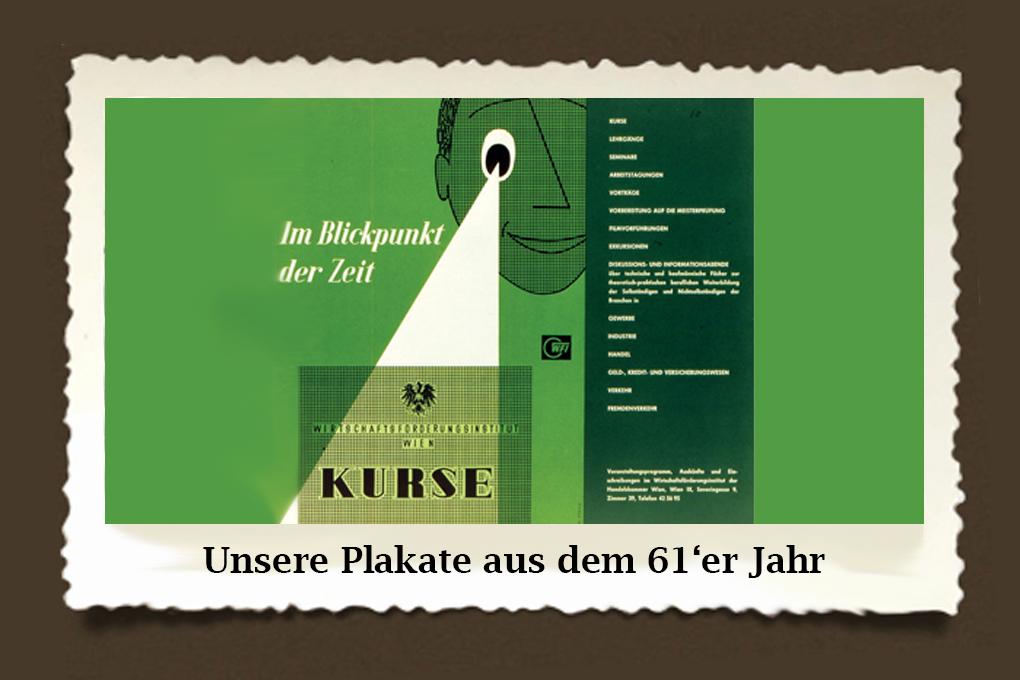 Aus dem Jahr 1961 stammt dieses Werbesujet. Die Message würde eigentlich heute noch passen: WIFI am Puls der Zeit!