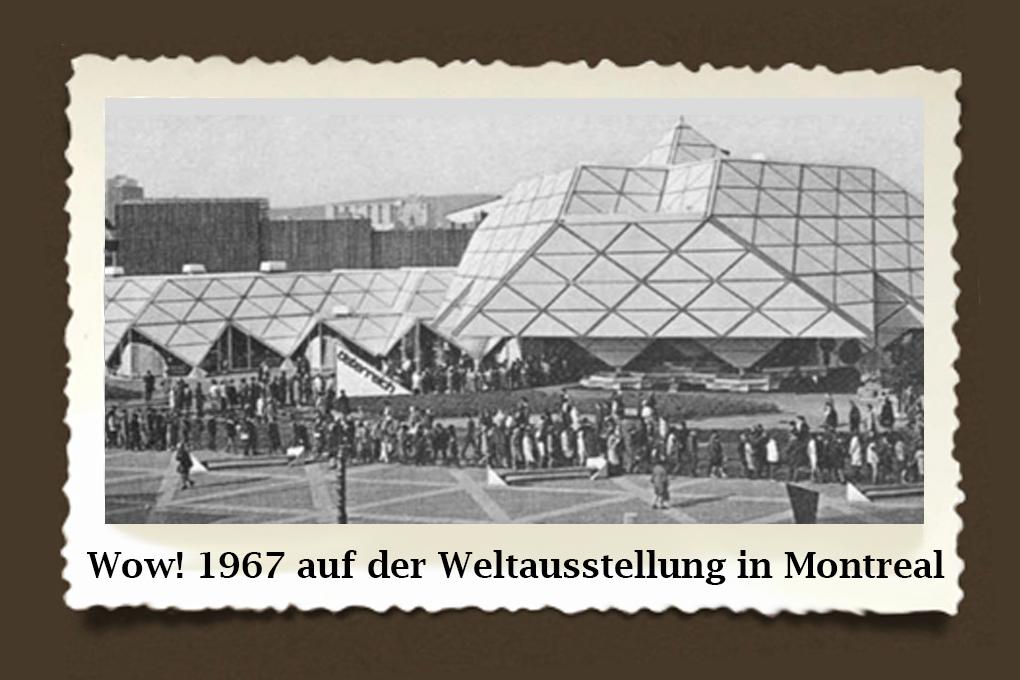 """Interessierte Besucher, so weit das Auge reicht: Das """"Österreich-Haus"""" bei der Weltausstellung in Montreal 1967: Modernste Architektur war der Rahmen für die Leistungsschau heimischer Unternehmen."""